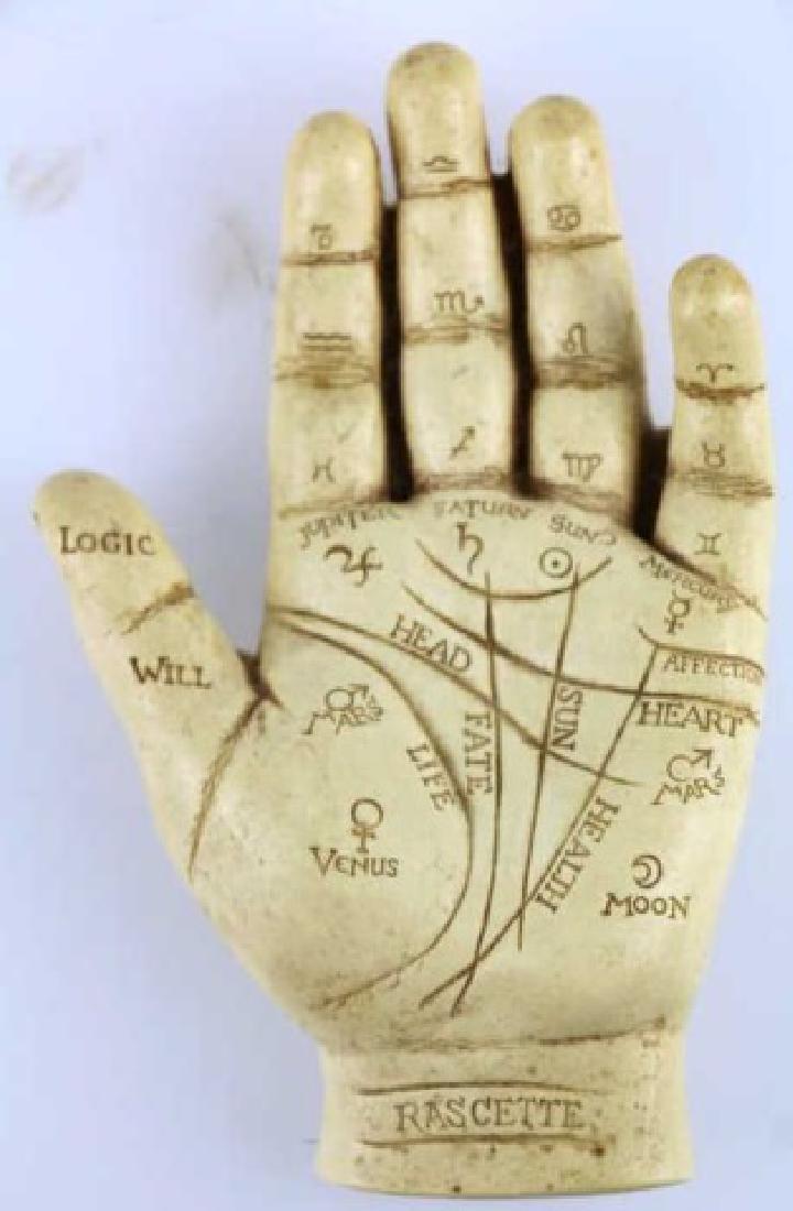 RASCETTE VINTAGE PALMISTRY HAND STUDY