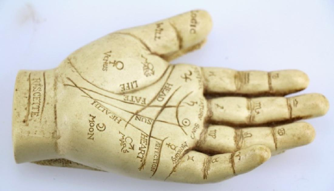 RASCETTE VINTAGE PALMISTRY HAND STUDY - 2