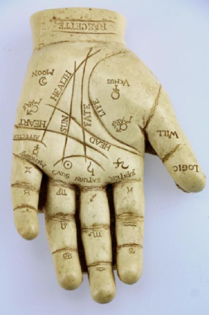 RASCETTE VINTAGE PALMISTRY HAND STUDY - 3