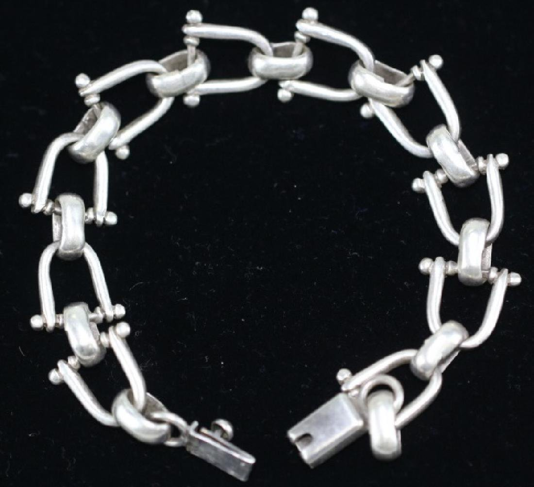 STERLING SILVER EQUESTRIAN GUCCI STYLE BRACELET