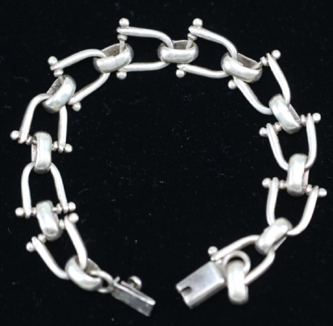 STERLING SILVER EQUESTRIAN GUCCI STYLE BRACELET - 3
