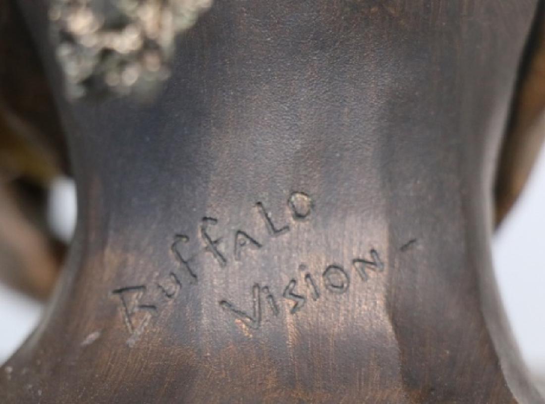"CHILMARK  ""BUFFALO VISION"" PEWTER SCULPTURE 33/500 - 10"