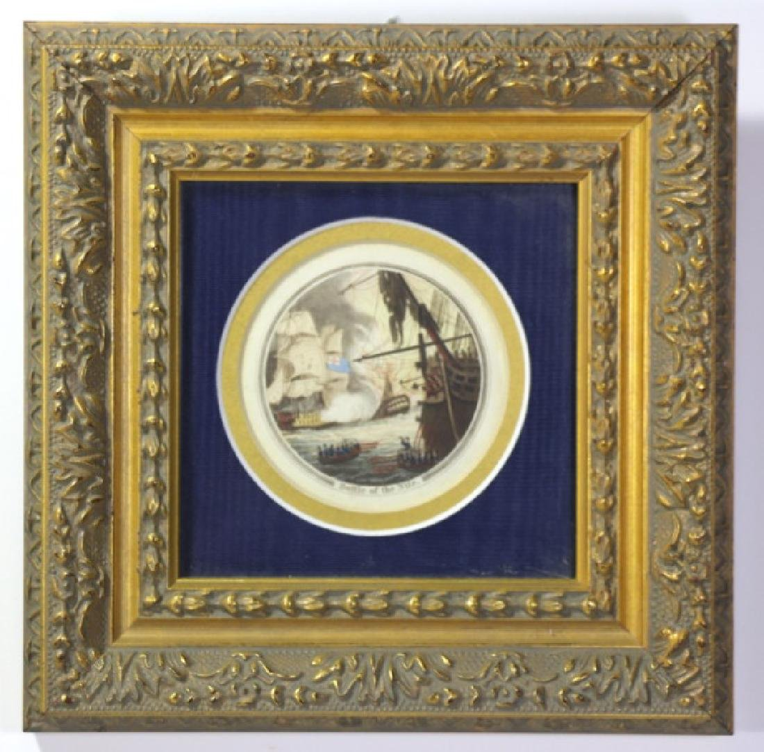 """""""BATTLE OF THE NILE"""" COLORED MINIATURE ENGRAVING"""
