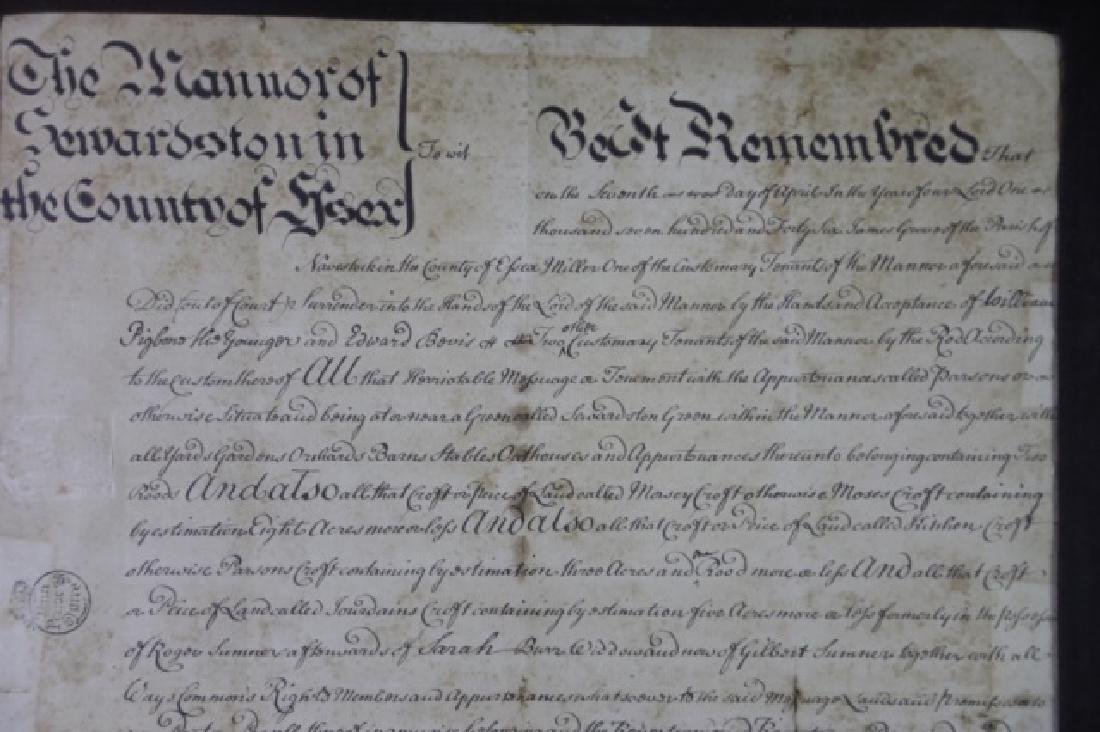 1746 DOCUMENT WITH IMPRESSED & STAMPED SEALS - 10