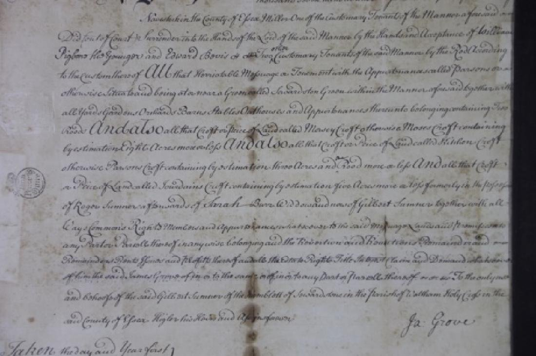 1746 DOCUMENT WITH IMPRESSED & STAMPED SEALS - 11
