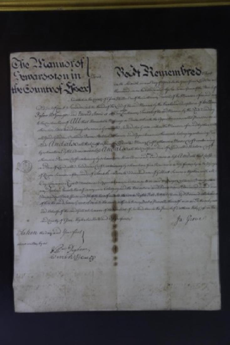 1746 DOCUMENT WITH IMPRESSED & STAMPED SEALS - 16