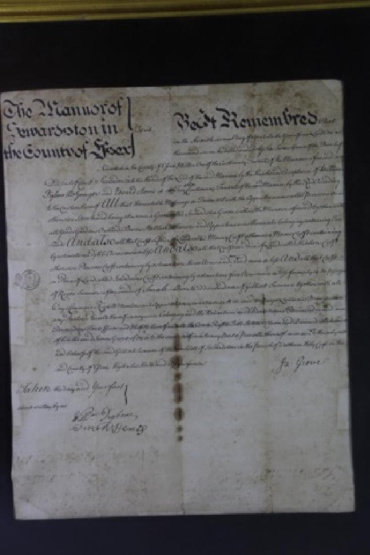1746 DOCUMENT WITH IMPRESSED & STAMPED SEALS - 17