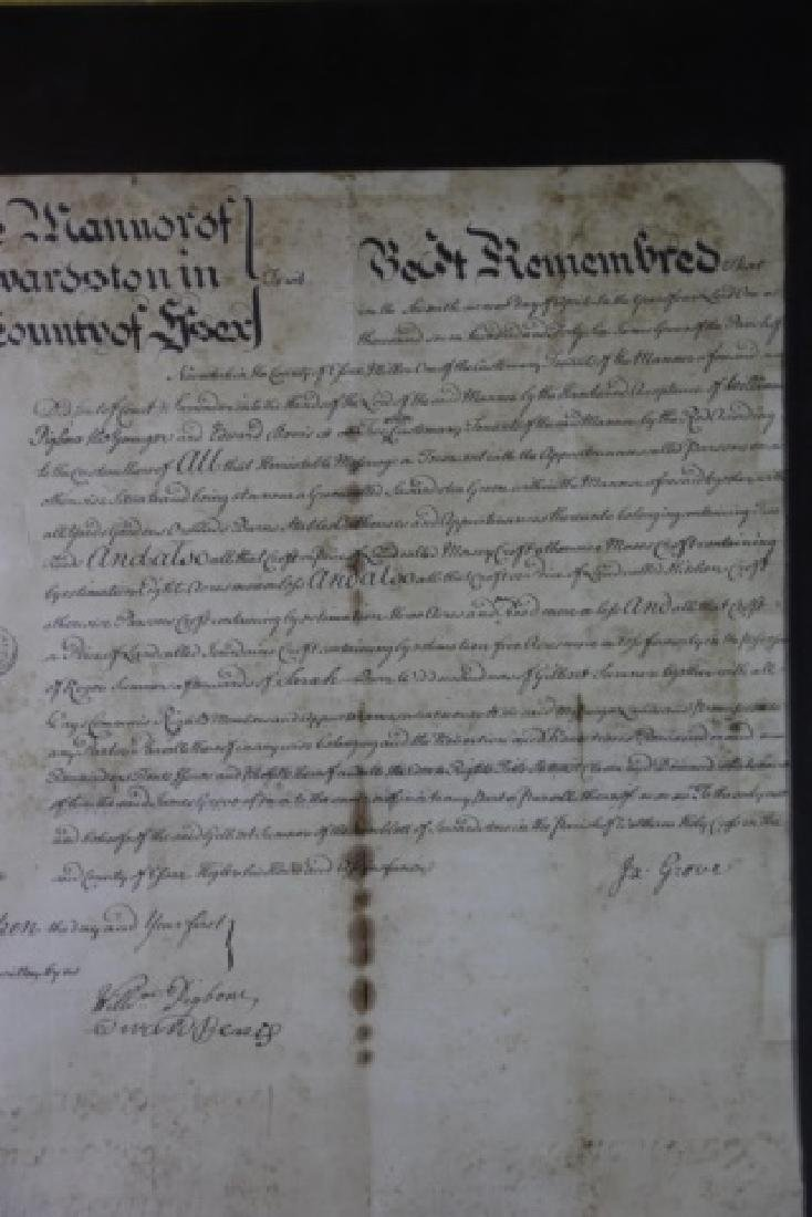 1746 DOCUMENT WITH IMPRESSED & STAMPED SEALS - 18