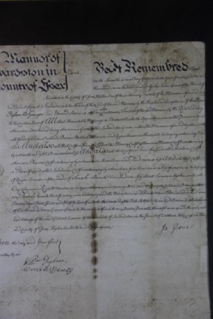 1746 DOCUMENT WITH IMPRESSED & STAMPED SEALS - 19