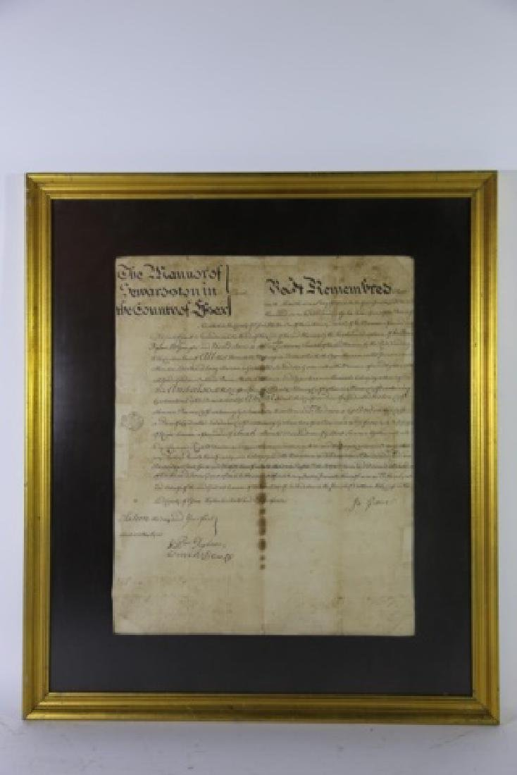 1746 DOCUMENT WITH IMPRESSED & STAMPED SEALS - 20