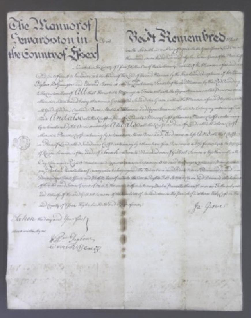 1746 DOCUMENT WITH IMPRESSED & STAMPED SEALS - 3