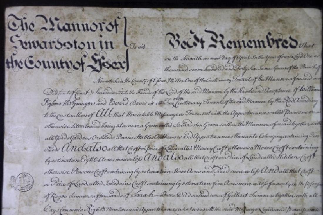 1746 DOCUMENT WITH IMPRESSED & STAMPED SEALS - 6