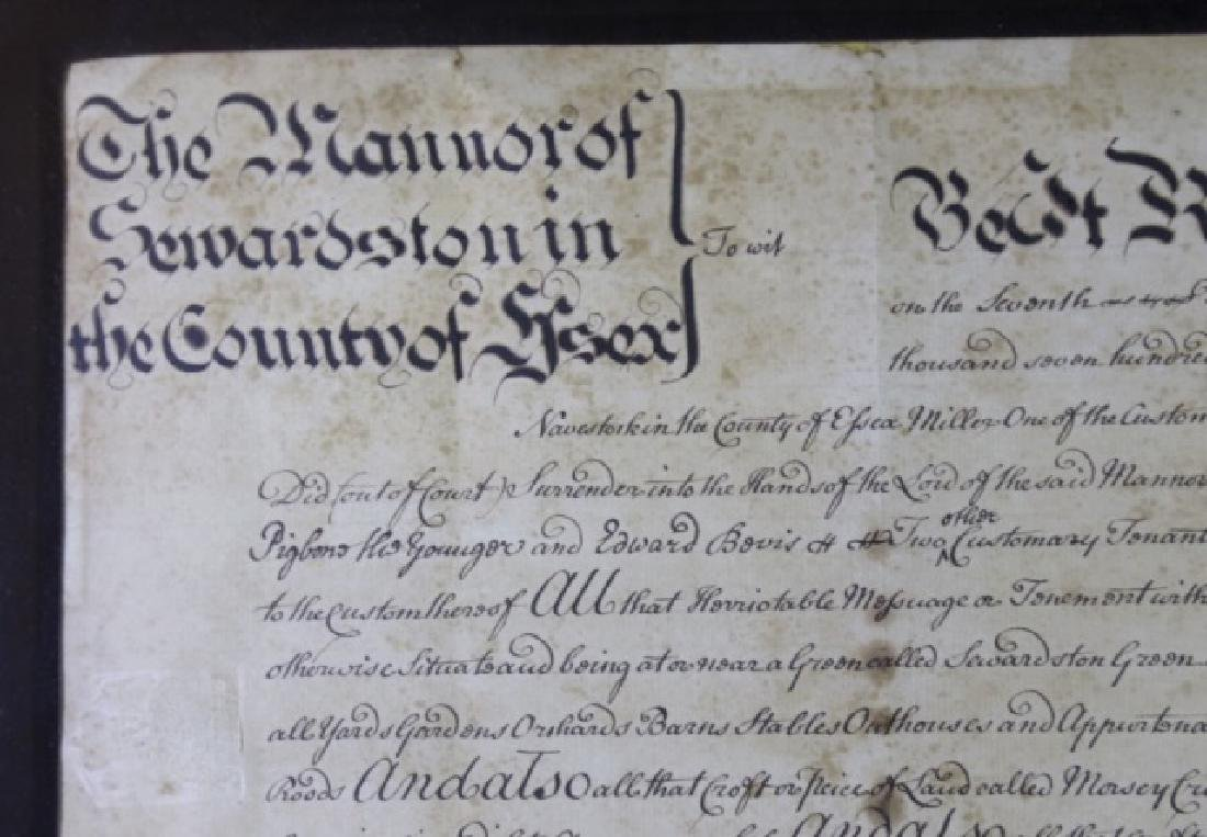 1746 DOCUMENT WITH IMPRESSED & STAMPED SEALS - 8