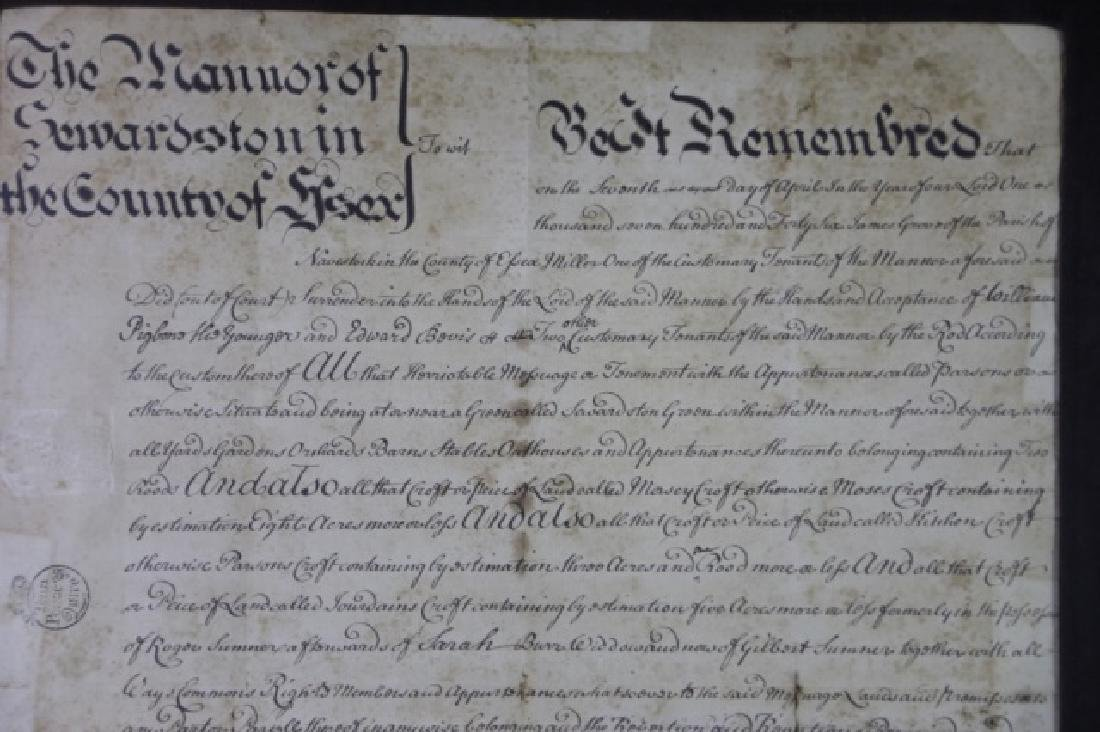 1746 DOCUMENT WITH IMPRESSED & STAMPED SEALS - 9