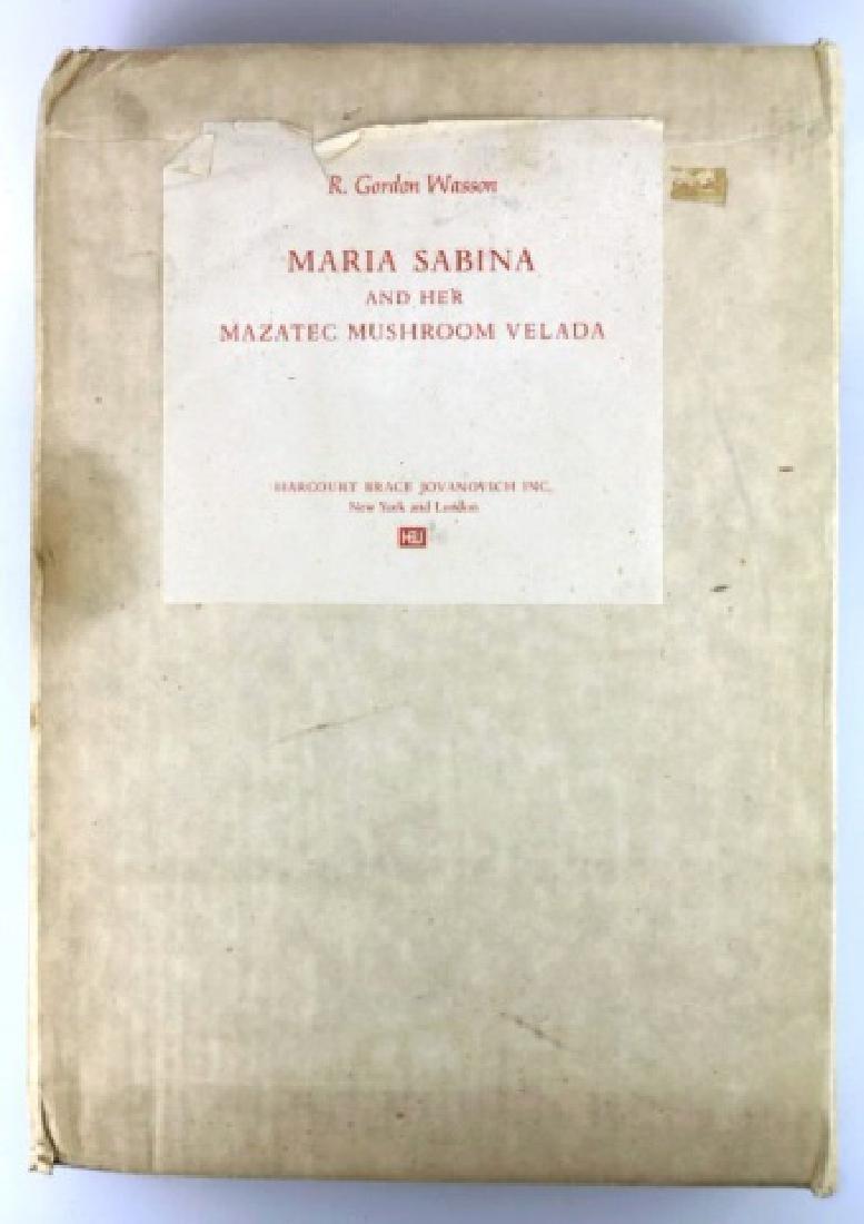 MARIA SABINA & HER MAZATEC MUSHROOM VELADA  BOOKS