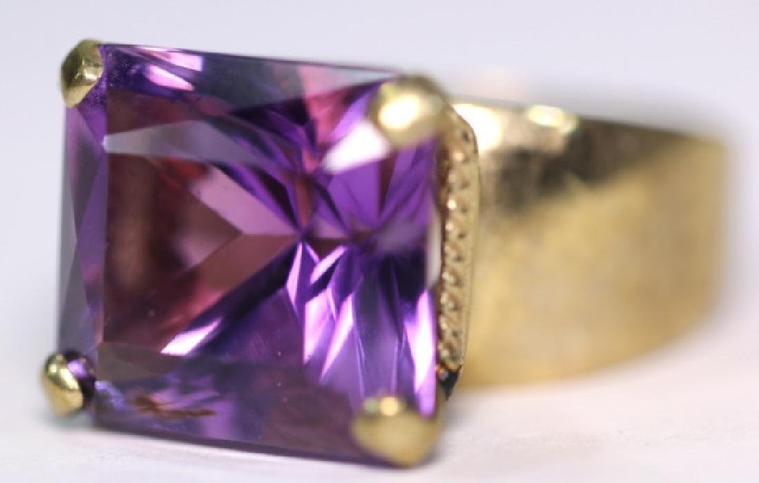 AMETHYST & 10KYG LADIES RING