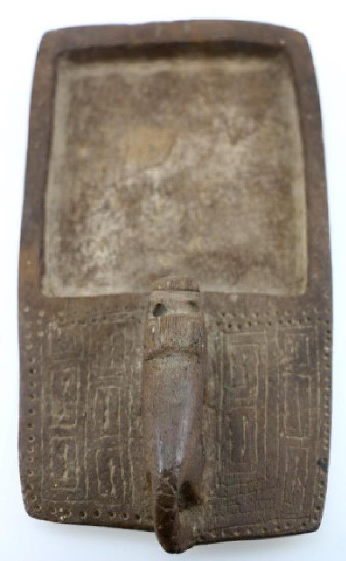 AFRICAN HAND CARVED TRAY - 6