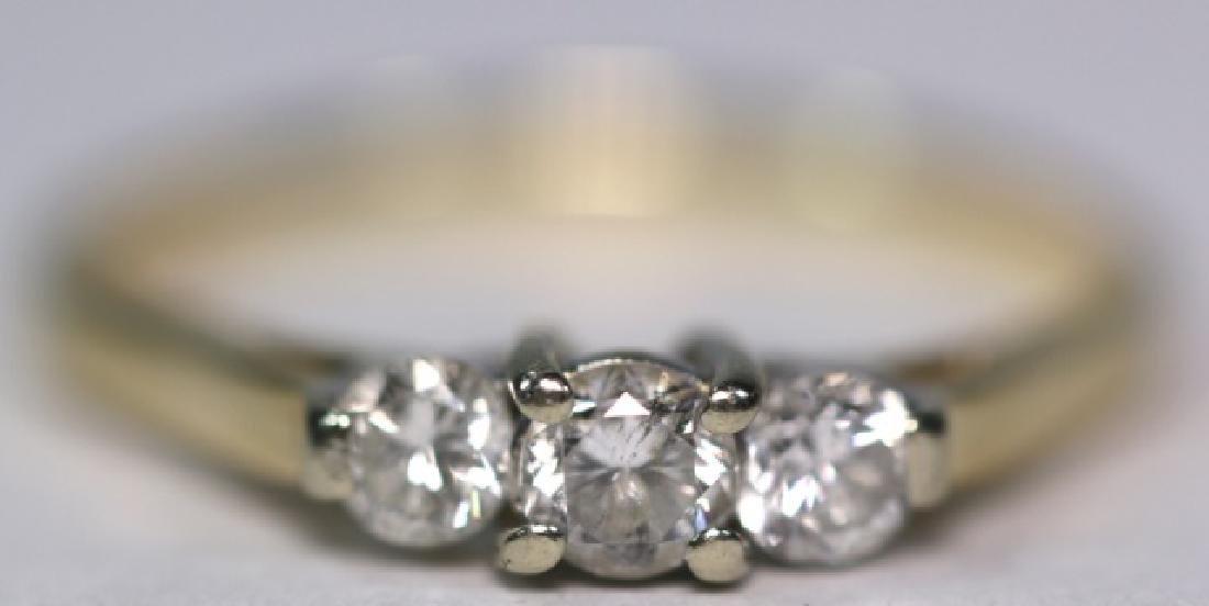14KYG / 0.86 CARAT DIAMOND ENGAGMENT RING