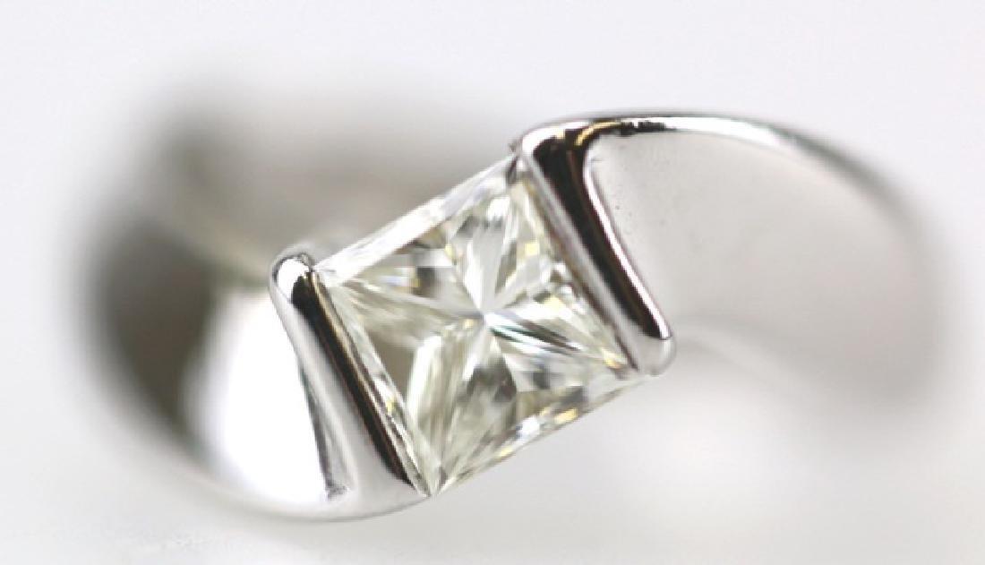 PRINCESS CUT ONE CARAT DIAMOND SOLITAIRE RING