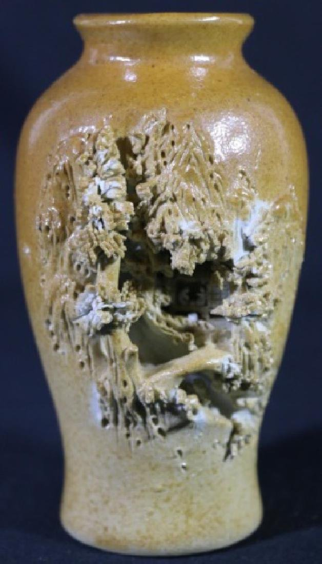 JAPANES SIGNED  POTTERY VASE