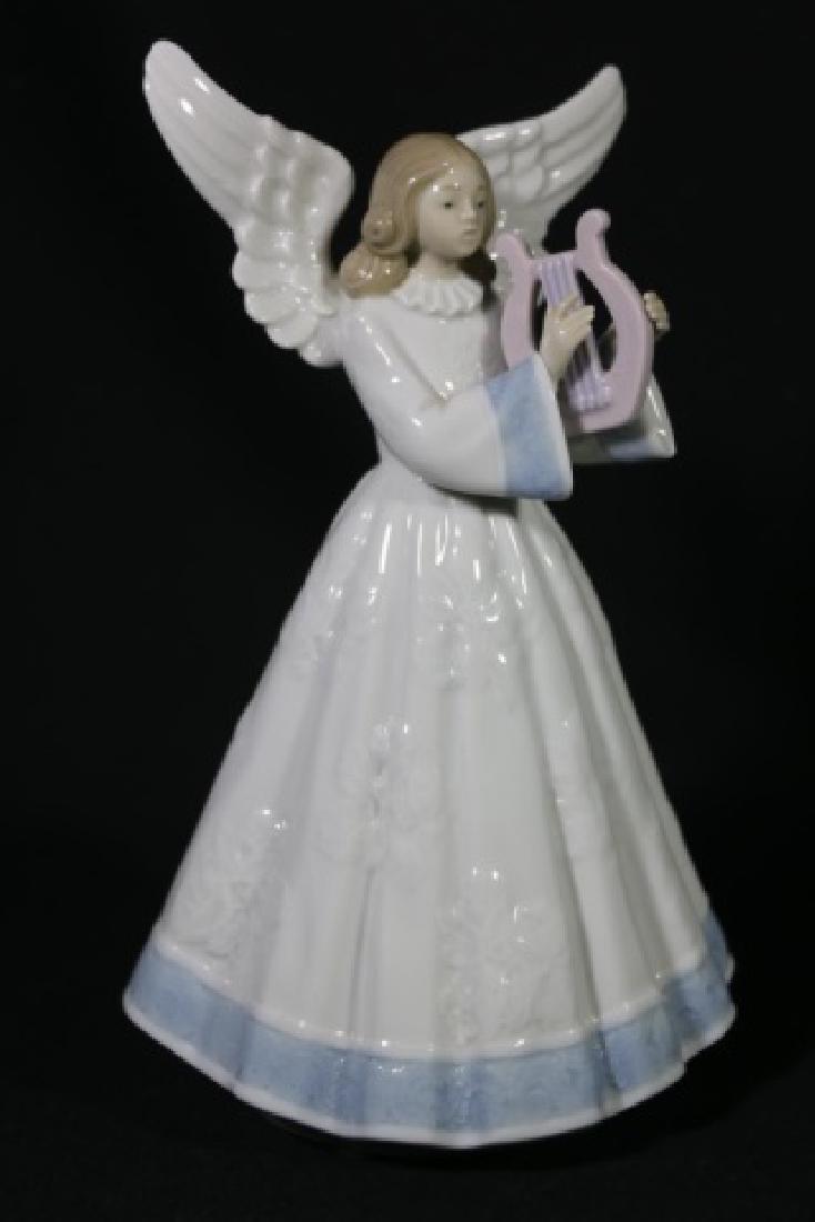 "LLADRO ""ANGEL WITH HARP""  PORCELAIN SCULPTURE - 2"