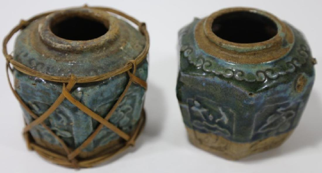 ANTIQUE EARLY POTTERY STORAGE JARS