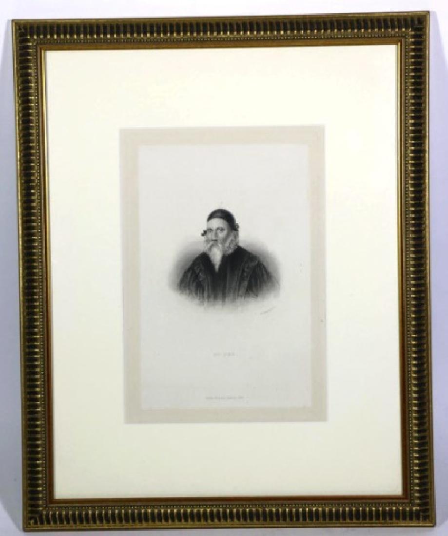 DR DEE LONDON 1842 BOOKPLATE ENGRAVED PORTRAIT