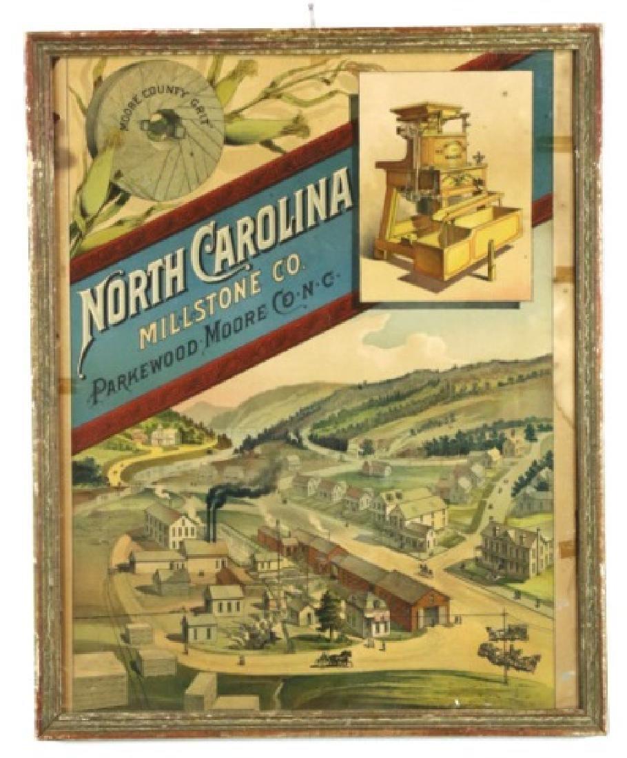 NORTH CARLOINA  MILLSTONE FRAMED CHROMOLITHOGRAPH