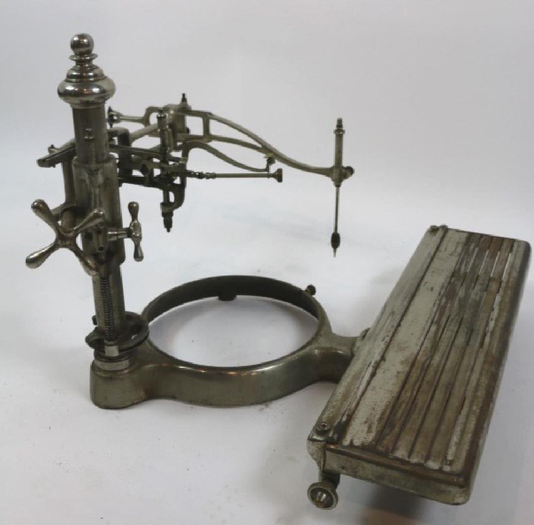 ANTIQUE NICKLED ENGRAVING / ETCHING MACHINE - 5