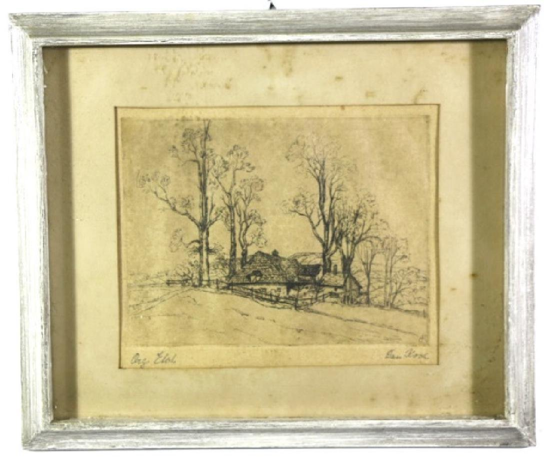 DAN KOCH ORIGINAL FRAMED ETCHING