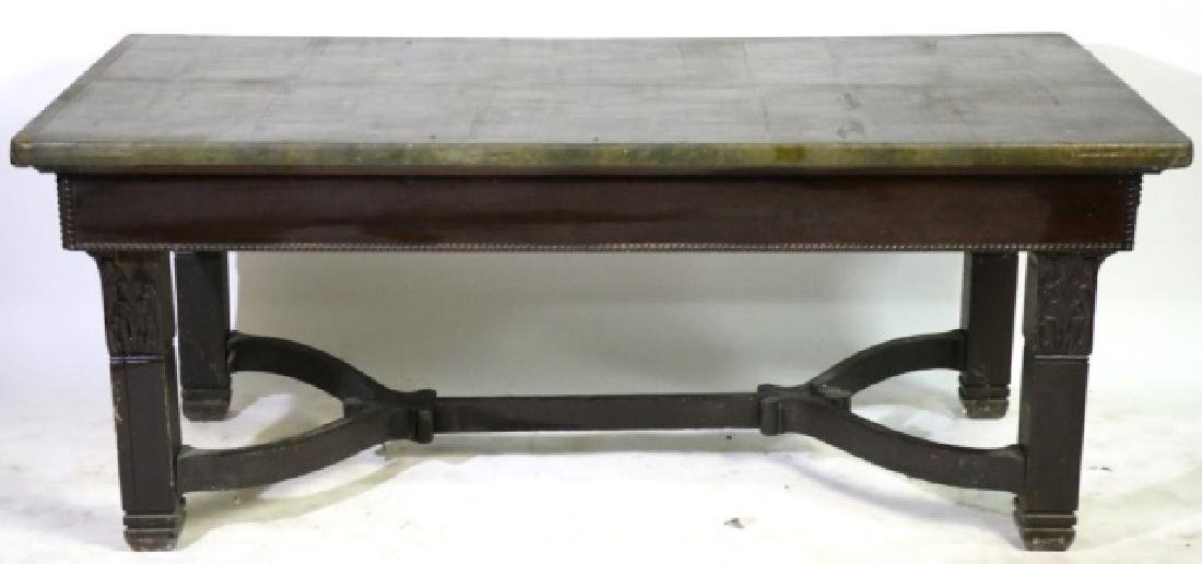 AMERICAN VICTORIAN LIBRARY TABLE POSSIBLY HORNER