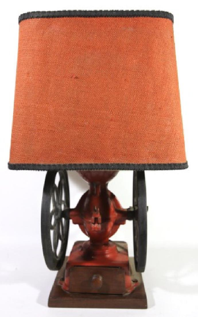 ANTIQUE GRINDER LAMP