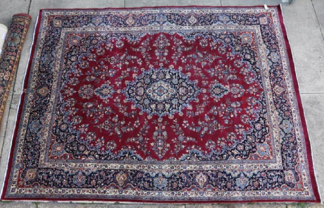 PERSIAN SIGNED KASHAN HAND WOVEN ROOM SIZE CARPET