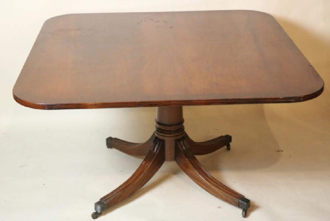 BEVAN FUNNELL MAHOGANY HI-LOW ENGLISH TABLE