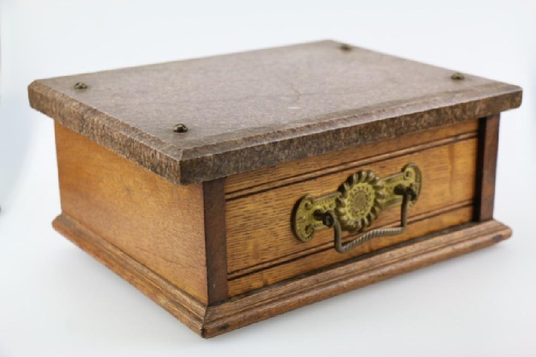 VICTORIAN MARBLE TOP SINGLE DRAWER PLYNTH