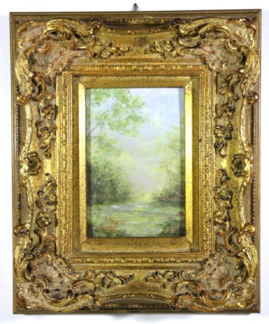 UNSIGNED LANDSCAPE IN FINE GILT FRAME