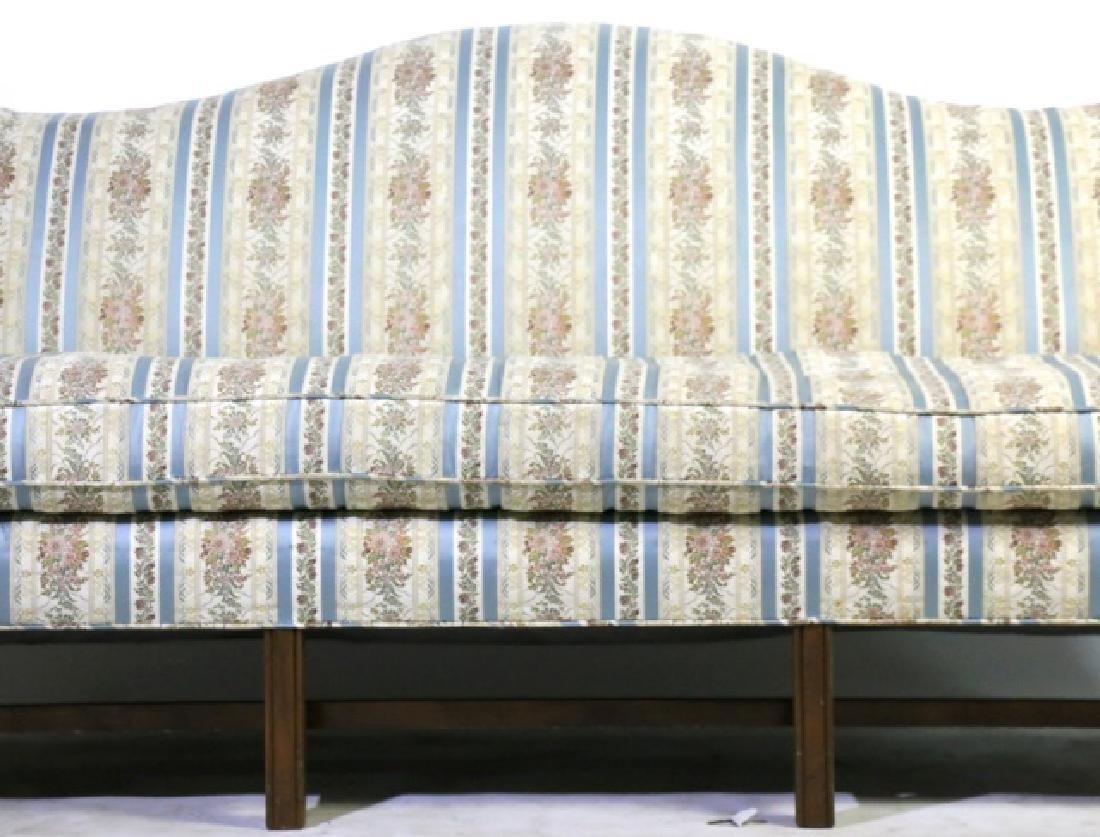 ANTIQUE CHIPPENDALE DOWN CUSHION CAMEL BACK SOFA - 2