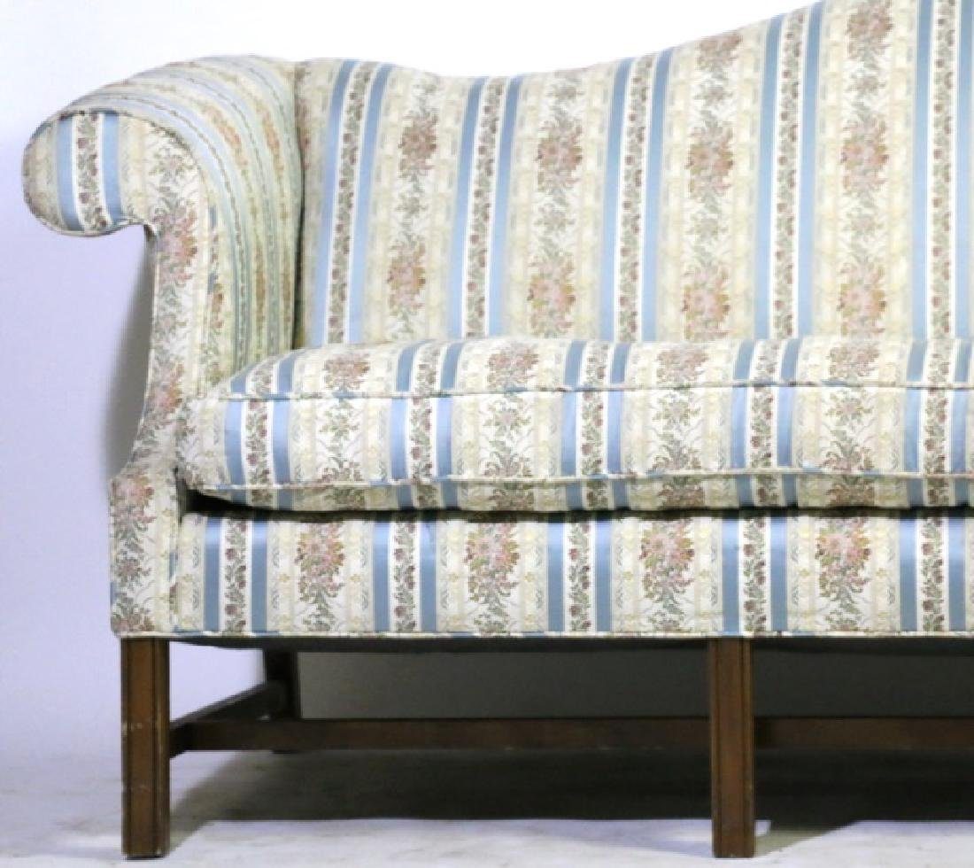 ANTIQUE CHIPPENDALE DOWN CUSHION CAMEL BACK SOFA - 3