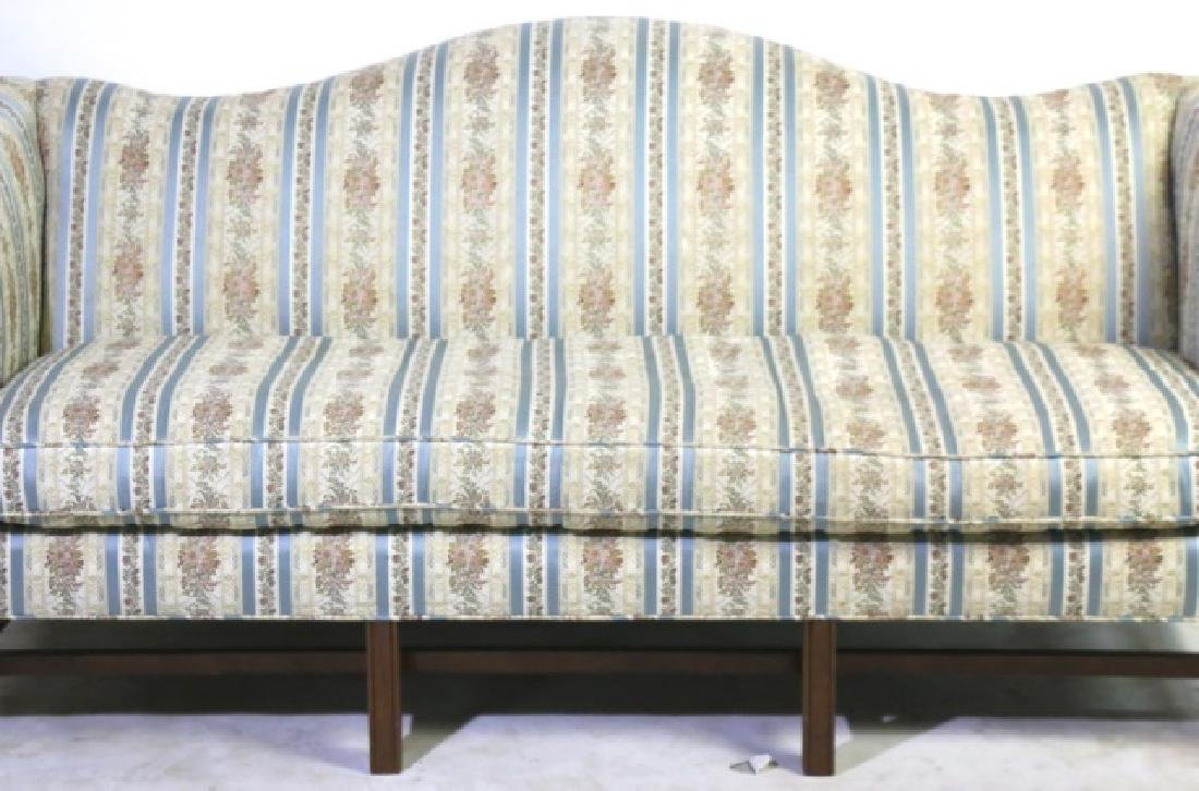 ANTIQUE CHIPPENDALE DOWN CUSHION CAMEL BACK SOFA - 5