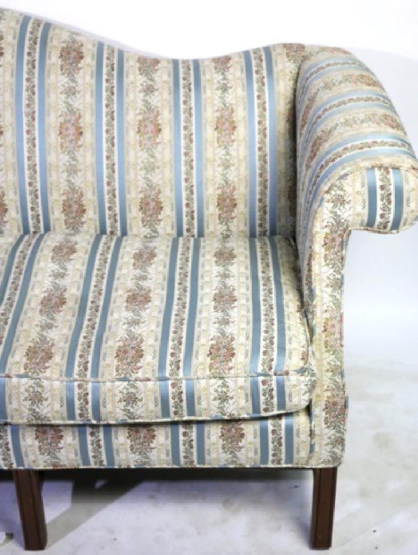 ANTIQUE CHIPPENDALE DOWN CUSHION CAMEL BACK SOFA - 6