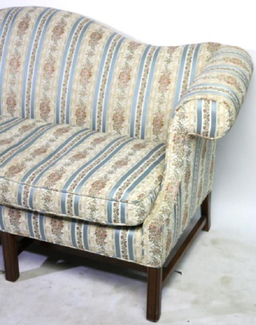 ANTIQUE CHIPPENDALE DOWN CUSHION CAMEL BACK SOFA - 7