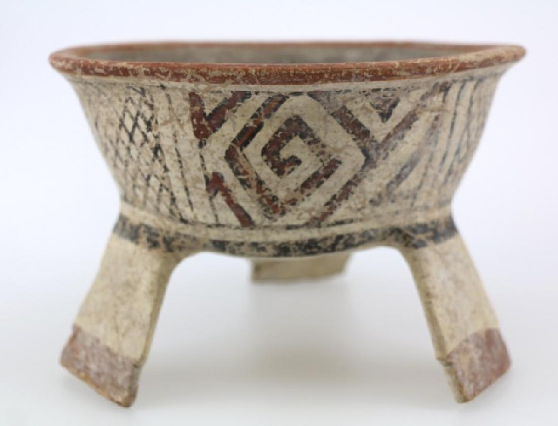 PRE-COLUMBIAN MIXTEC-AZTEC TRIPOD BOWL
