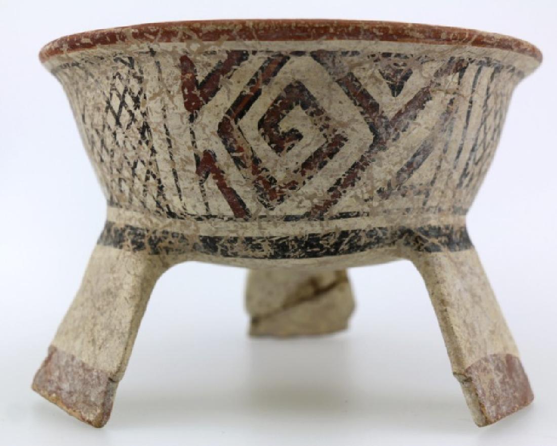 PRE-COLUMBIAN MIXTEC-AZTEC TRIPOD BOWL - 3