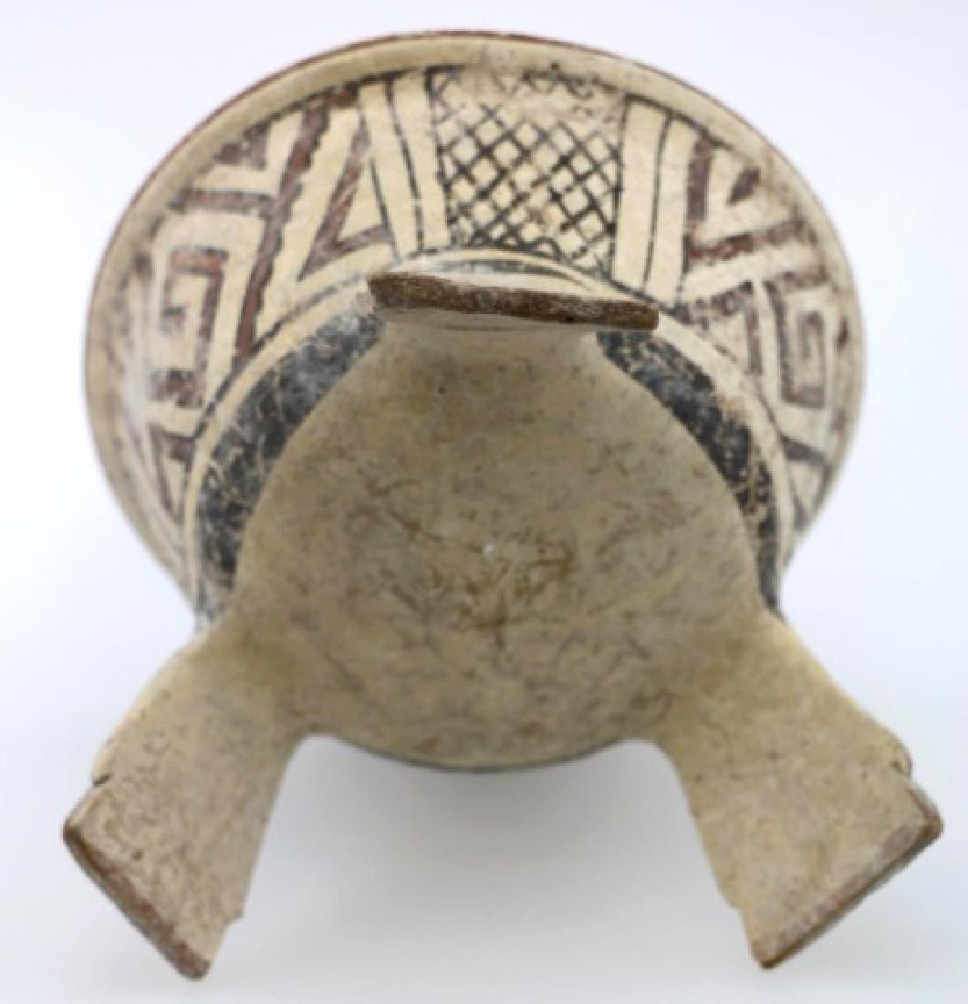PRE-COLUMBIAN MIXTEC-AZTEC TRIPOD BOWL - 6