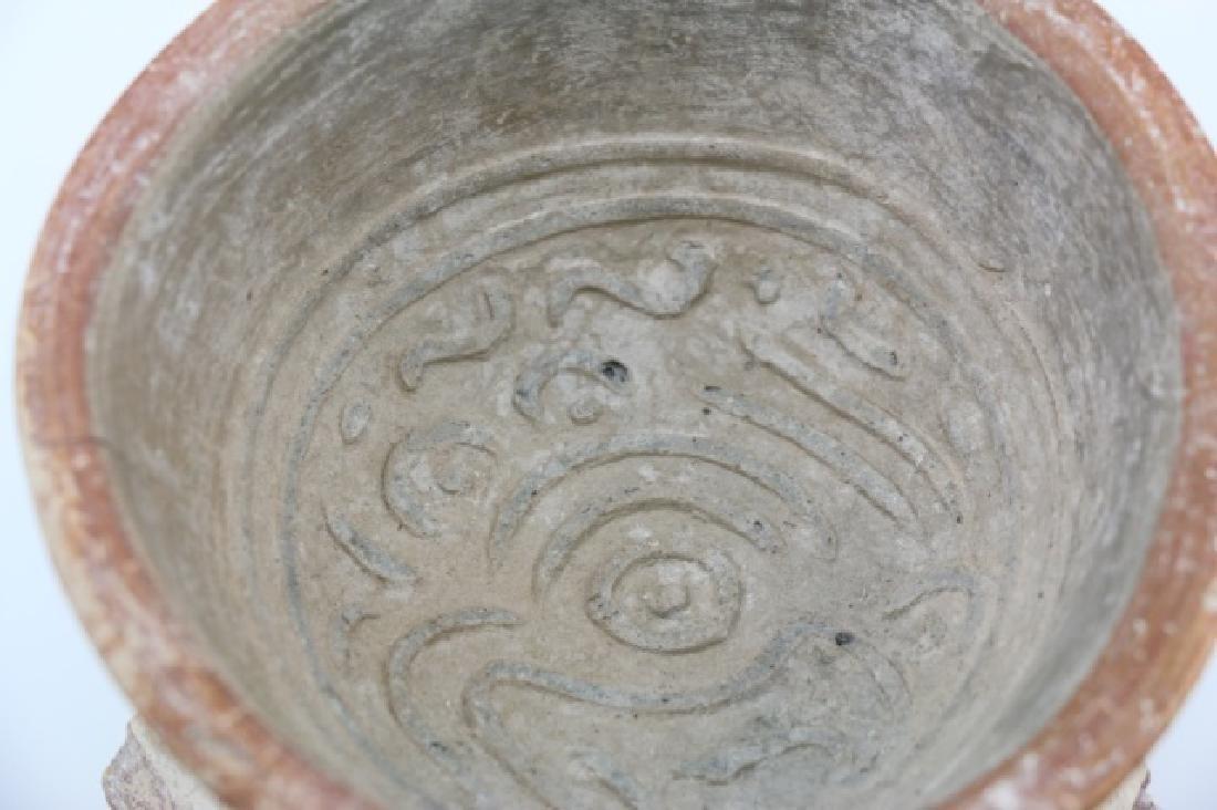 PRE-COLUMBIAN MIXTEC-AZTEC TRIPOD BOWL - 9
