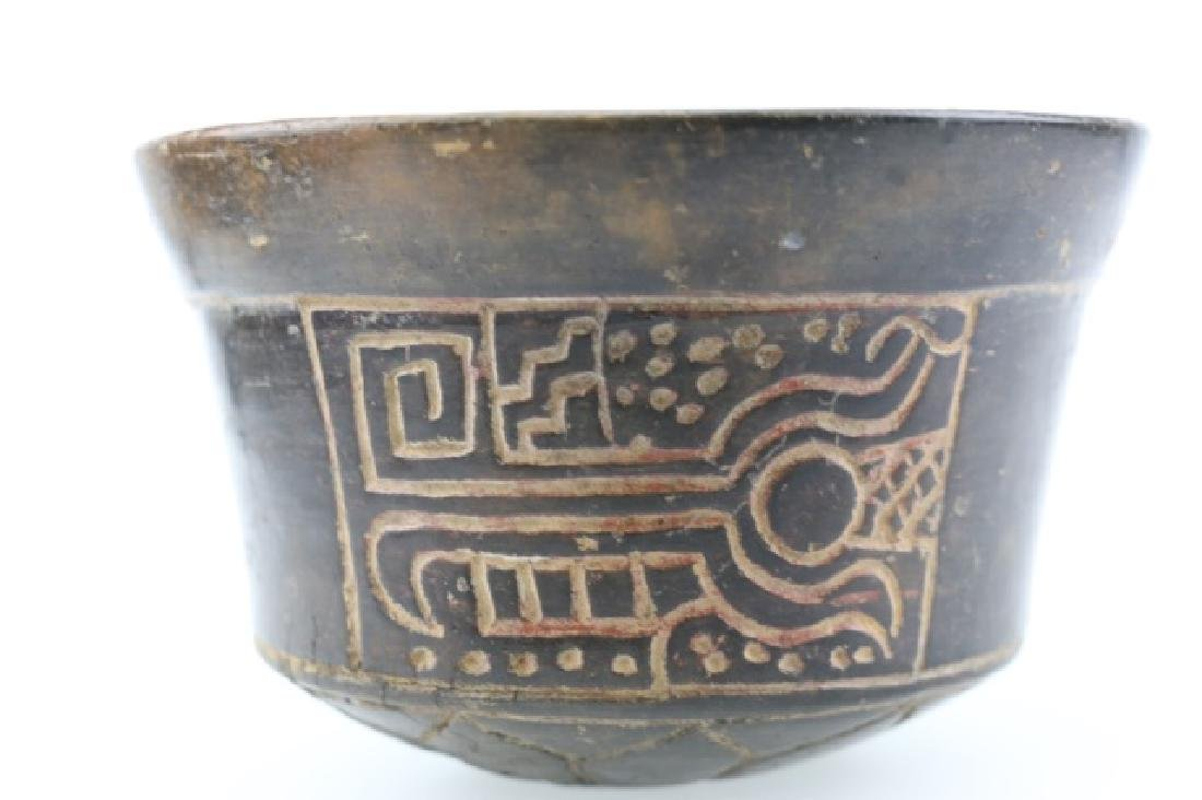 PRE-COLUMBIAN MAYAN INCISED BOWL