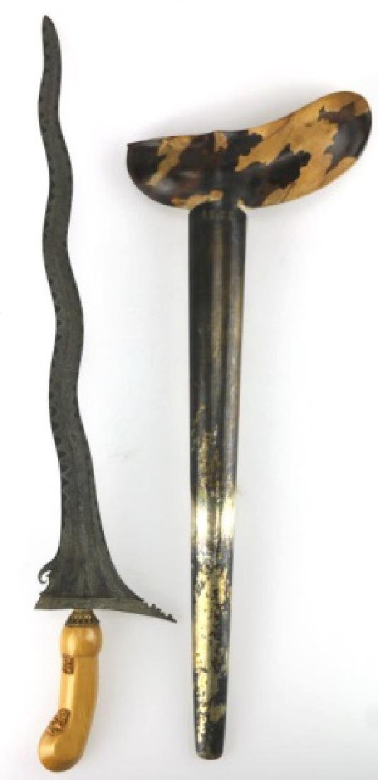JAVANESE ANTIQUE KARIS / KRIS DAMASCUS DAGGER