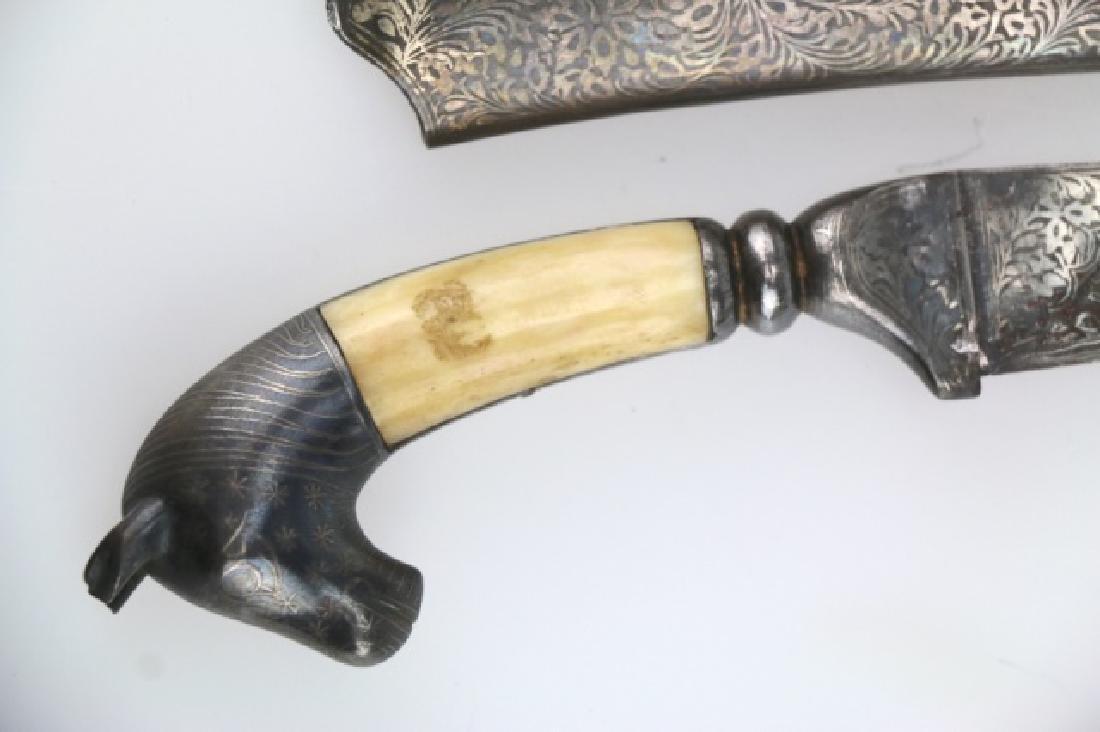 PERISAN BONE HANDLED HAND MADE DAGGER W/ SHEATH - 10