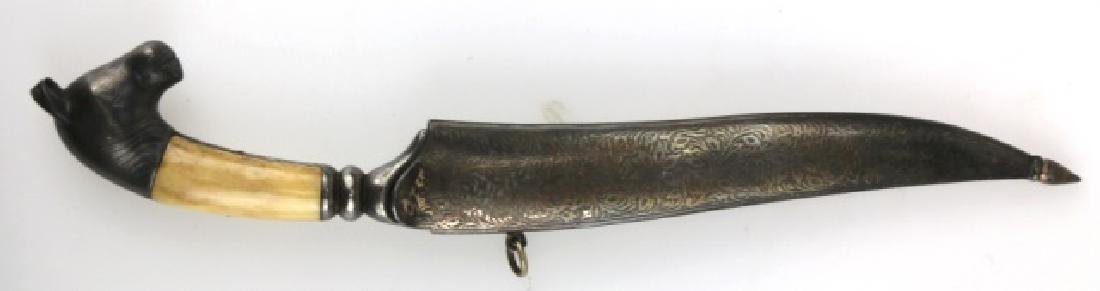 PERISAN BONE HANDLED HAND MADE DAGGER W/ SHEATH - 3