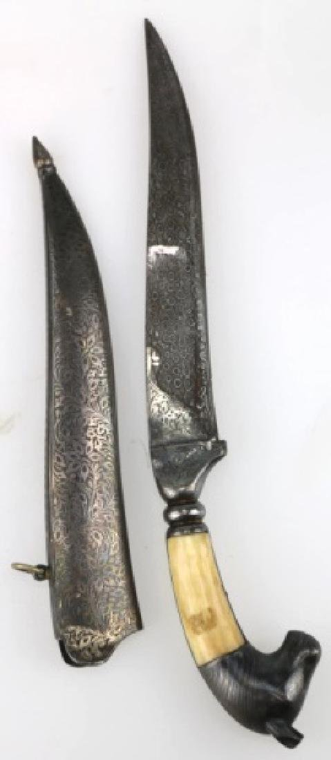 PERISAN BONE HANDLED HAND MADE DAGGER W/ SHEATH - 9